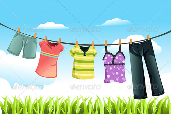 GraphicRiver Drying Clothes 5991163