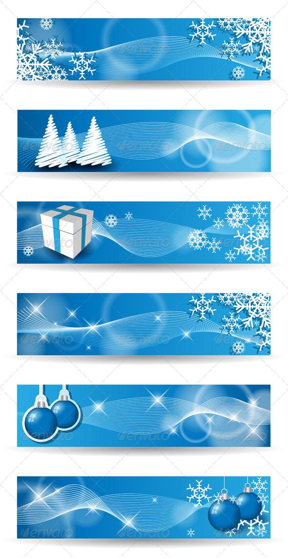 GraphicRiver Christmas Banners 5991219