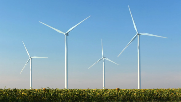 Blue Sky And Wind Power