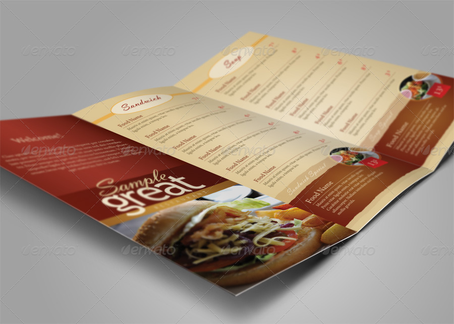 Restaurant / Cafe Take-out Menu Template by kinzi21 | GraphicRiver