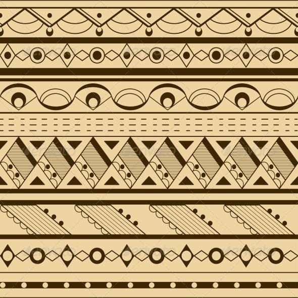 GraphicRiver Seamless Ethnic Background 5991292