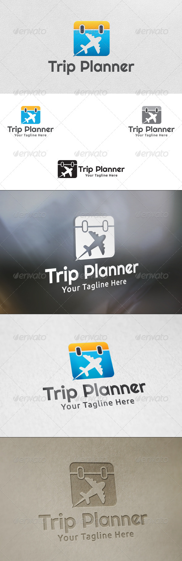 GraphicRiver Trip Planner Logo Template 5991332