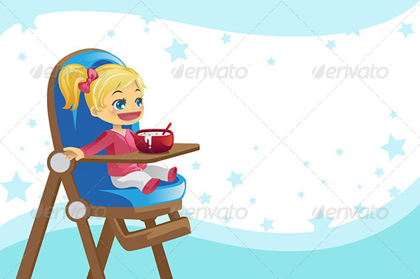GraphicRiver Child Eating in High Chair 5991336
