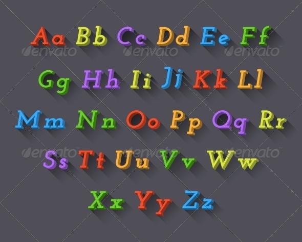 GraphicRiver Colorful Font 5991378
