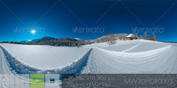 3DOcean Snowy Winter Scene on Feldberg Black Forest 5991411