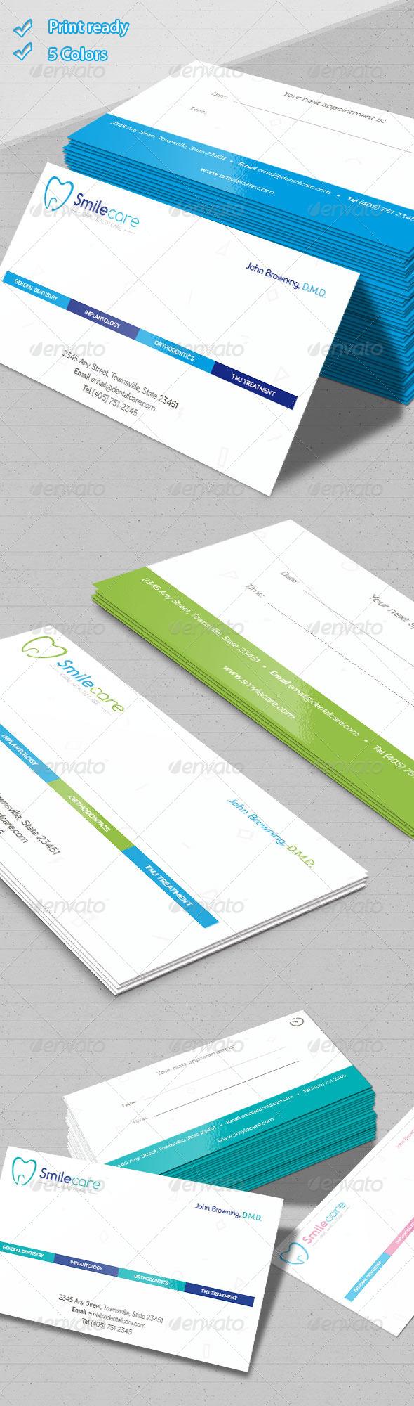 GraphicRiver Dental Business Cards 5949844