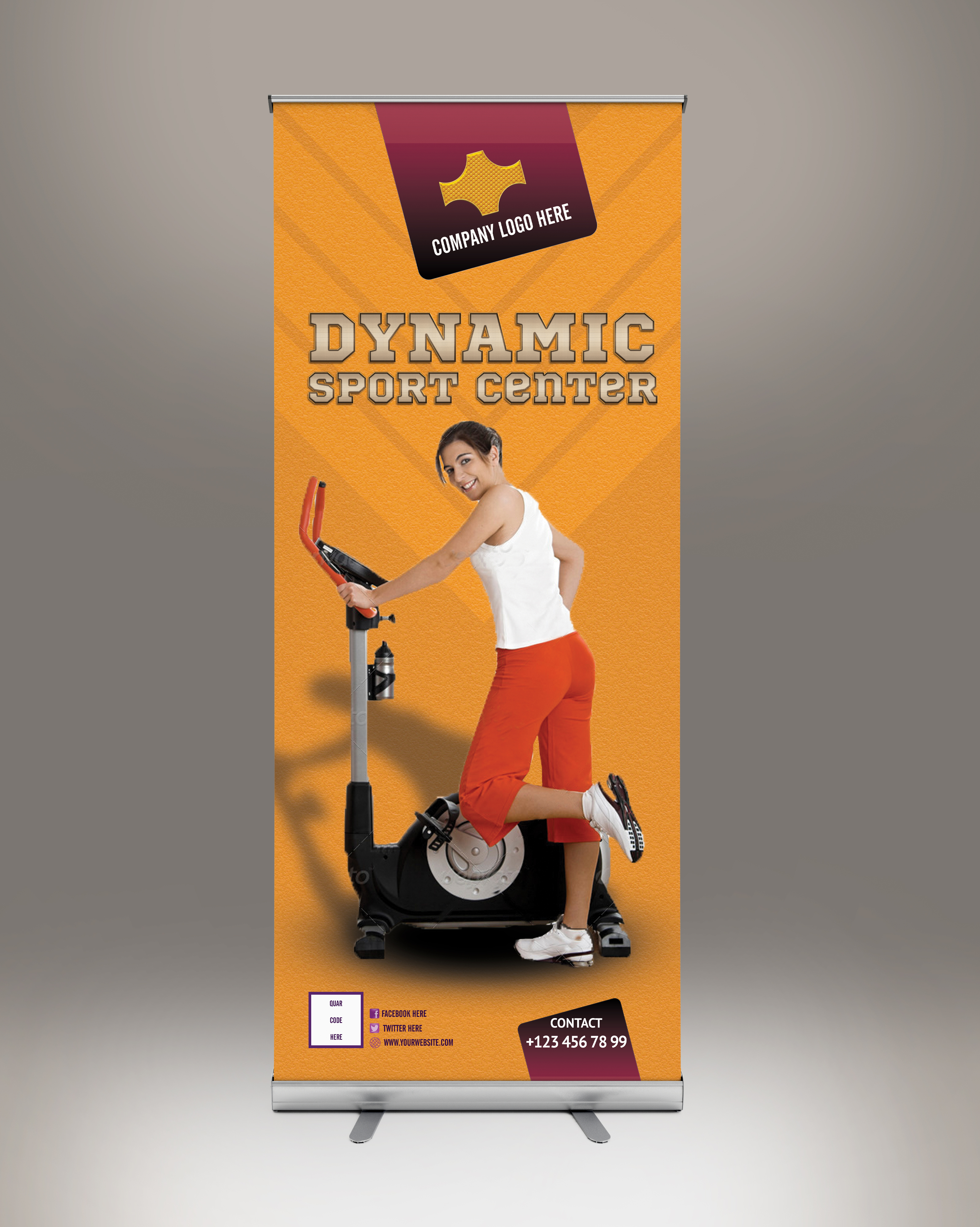 Roll Up Banner Sport Center
