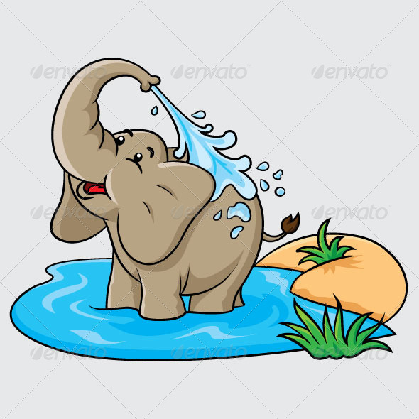 GraphicRiver Elephant Cartoon 5991516