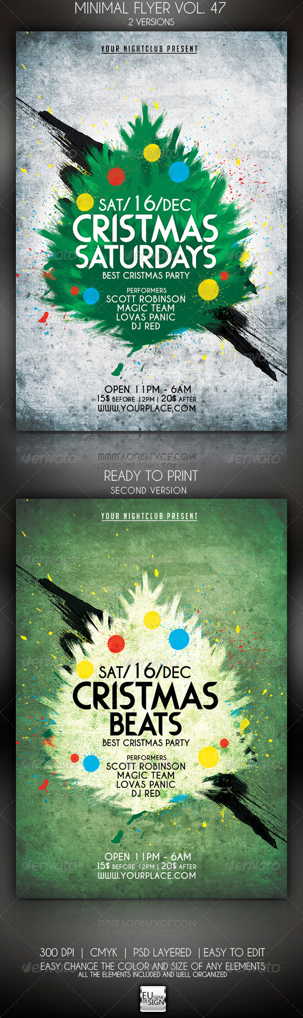 Minimal Flyer Vol. 47 - Clubs & Parties Events