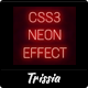 CSS3 Neon Effect