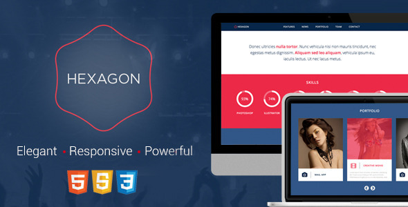 ThemeForest Hexagon Responsive HTML5 Template 5955952
