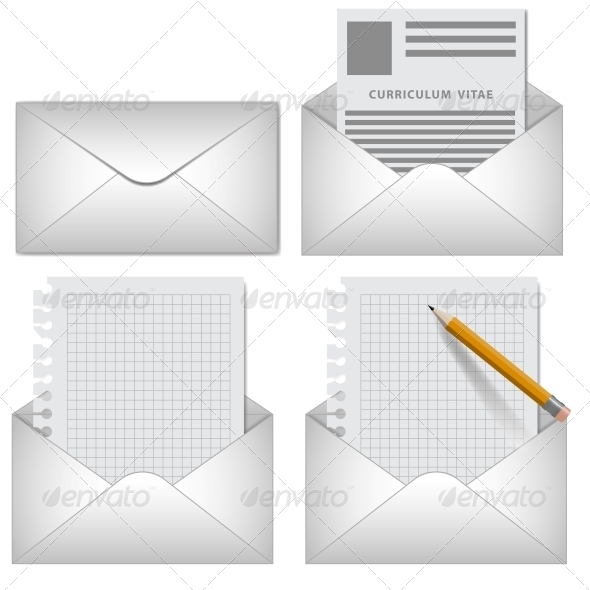 GraphicRiver Vector Envelope on White Background 5991579