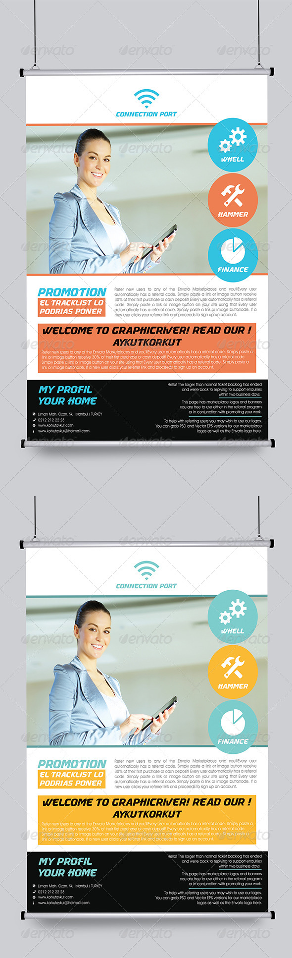 GraphicRiver Connection Port Flyer Template 5966598