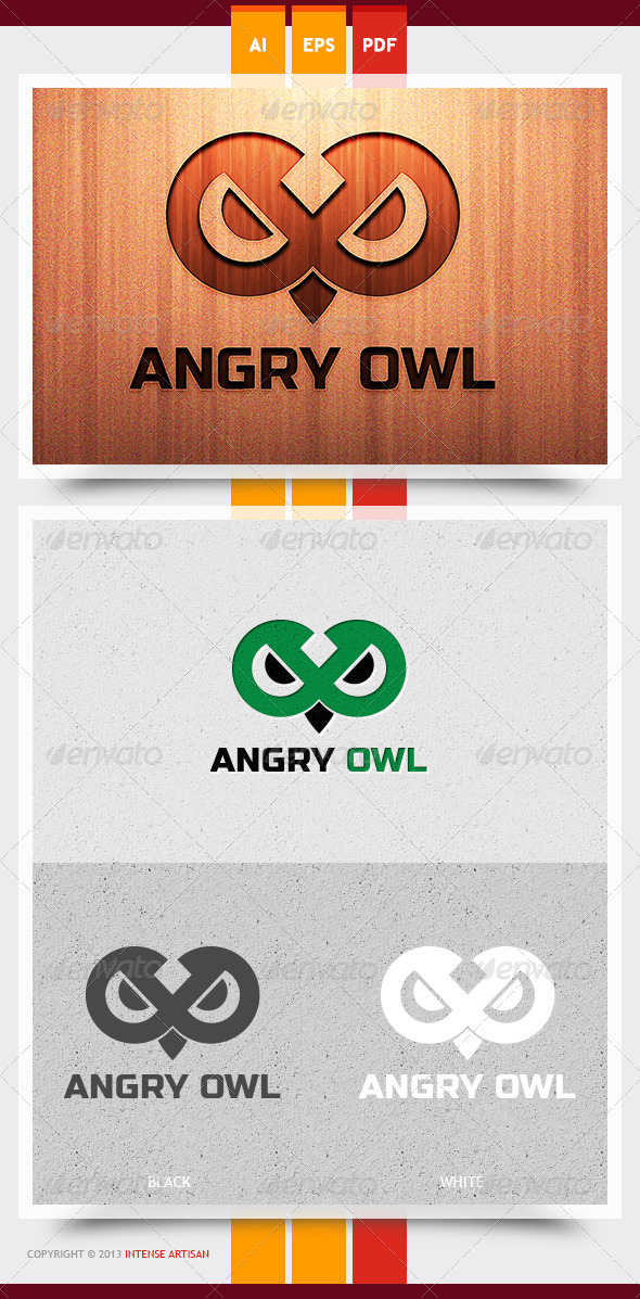 GraphicRiver Angry Owl Logo Template 5991891