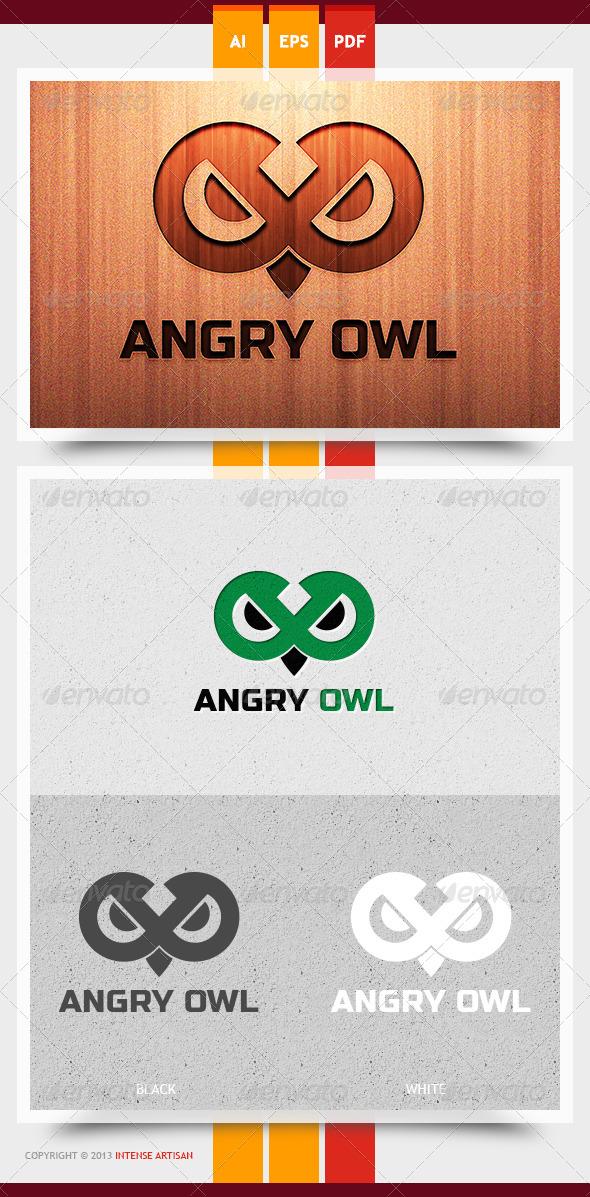 Angry Owl Logo Template