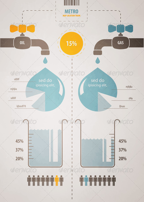 GraphicRiver Retro infographics account scheme with a liquid 626105