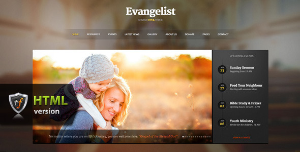 Evangelist - Church HTML Theme - Churches Nonprofit