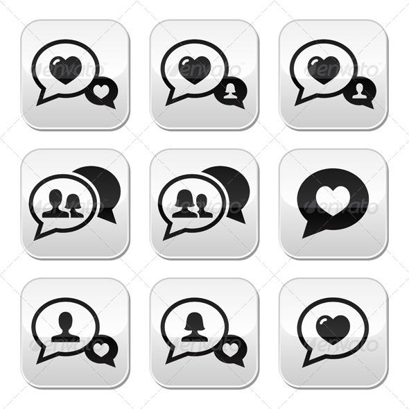 GraphicRiver Love Speech Bubbles Set 5992156