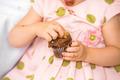 Birthday Girl Eating Cupcake - PhotoDune Item for Sale