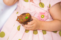 Birthday Girl Holding Cupcake - PhotoDune Item for Sale