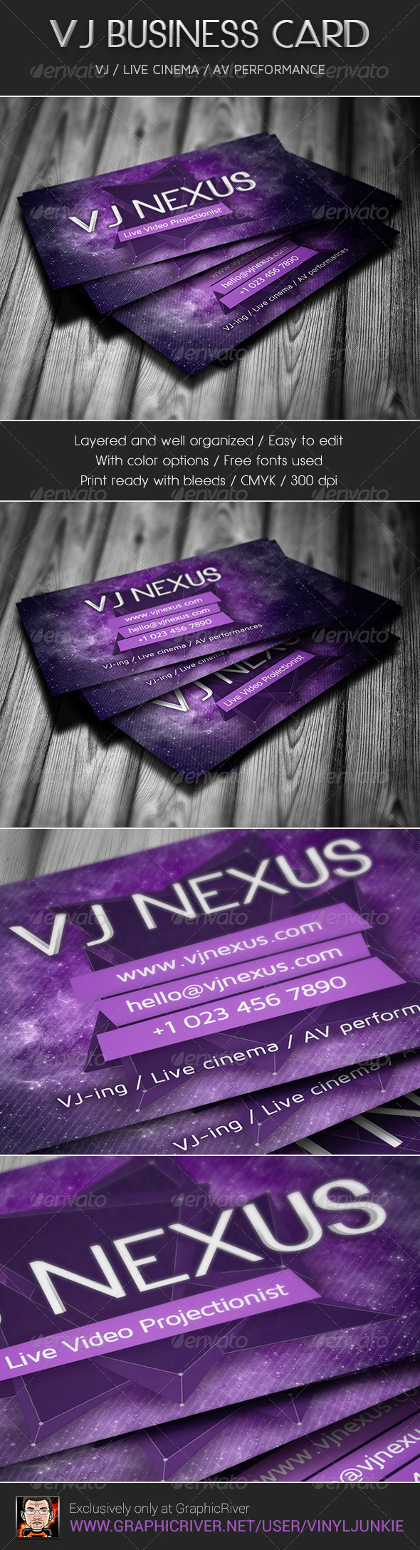 VJ Business Card - Industry Specific Business Cards