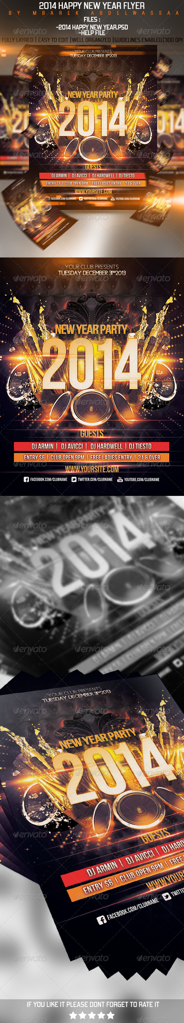 2014 Happy New Year Flyer