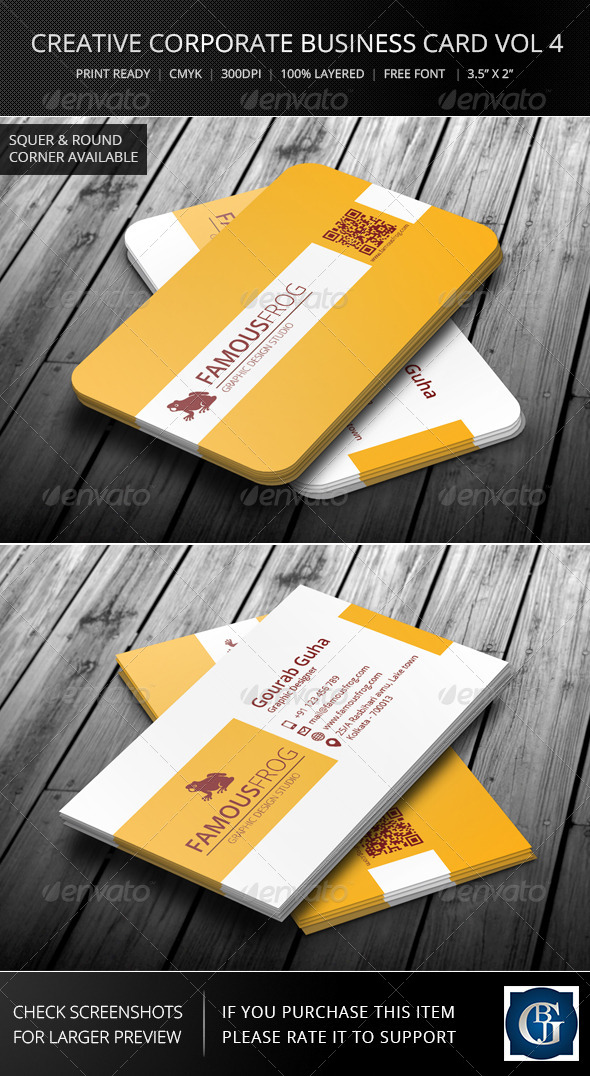 Creative Corporate Business Card Vol 4 - Corporate Business Cards