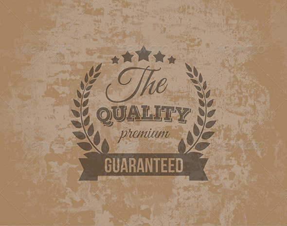 Premium Quality Guarantee Label - Decorative Symbols Decorative