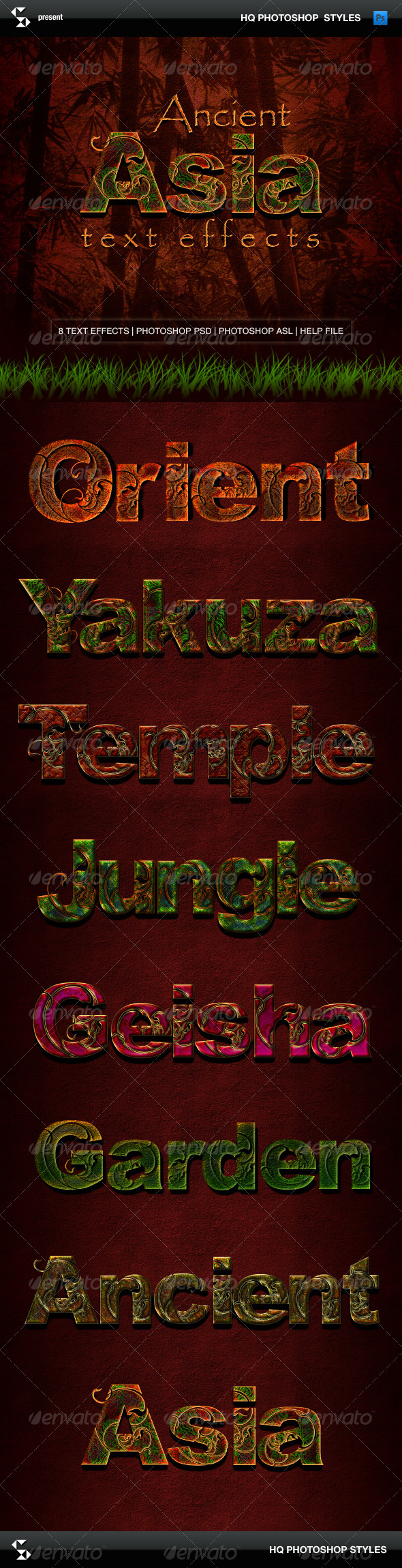 GraphicRiver Ancient Asia Text Effects 5993687
