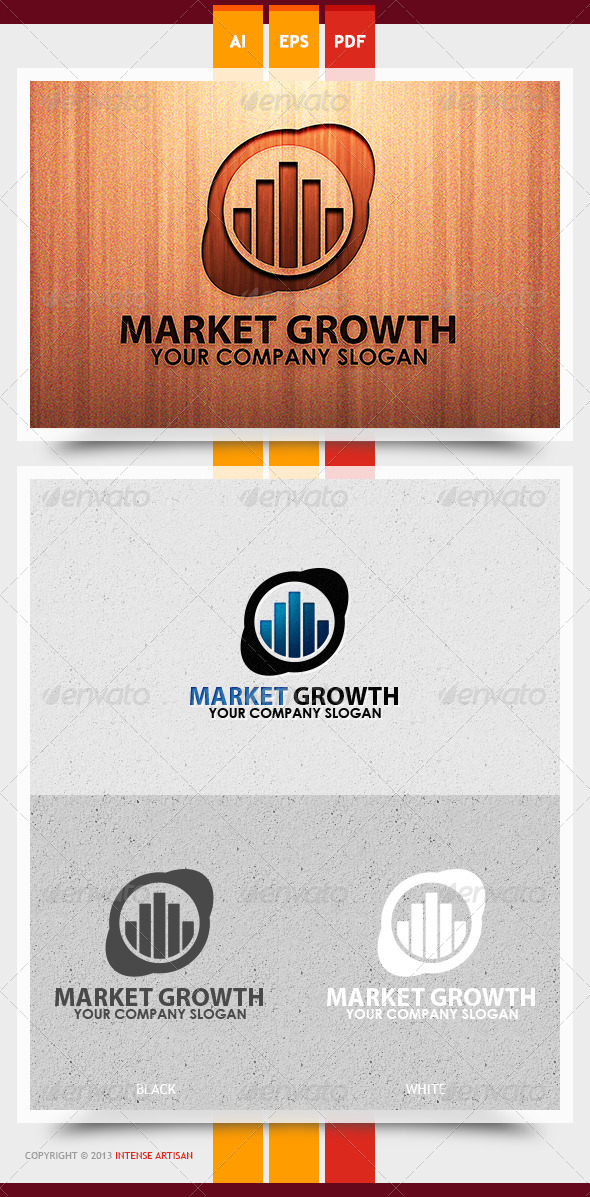 GraphicRiver Market Growth Logo Template 5993718
