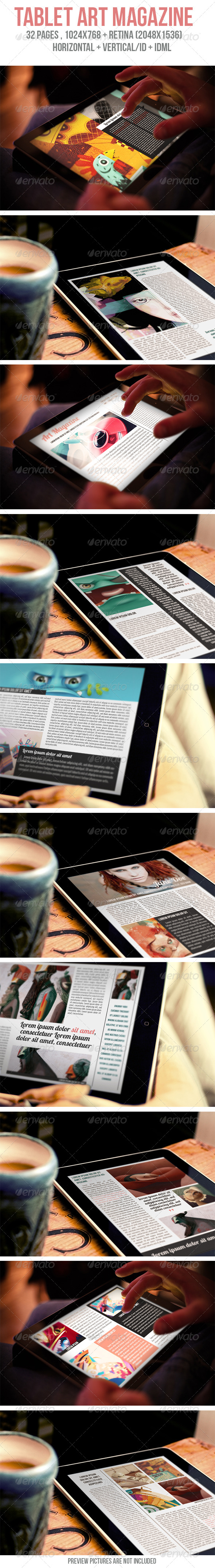 GraphicRiver Tablet Art Magazine 5993724