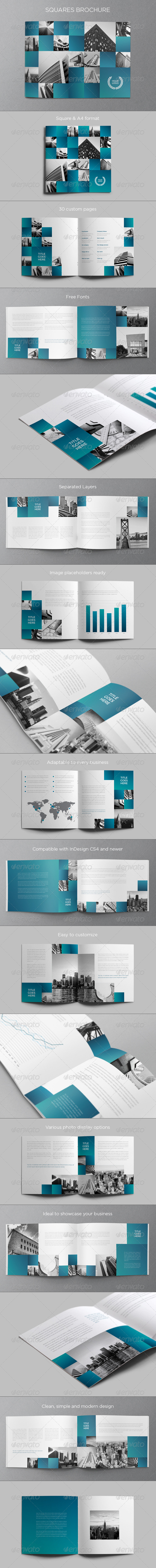GraphicRiver Architecture Squares Brochure 5993725