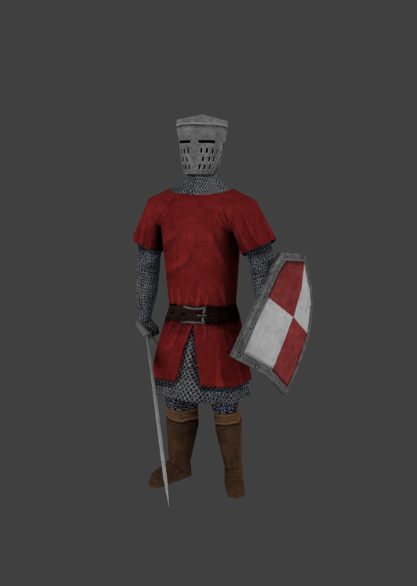 Knight Low Poly Rigged - 3DOcean Item for Sale