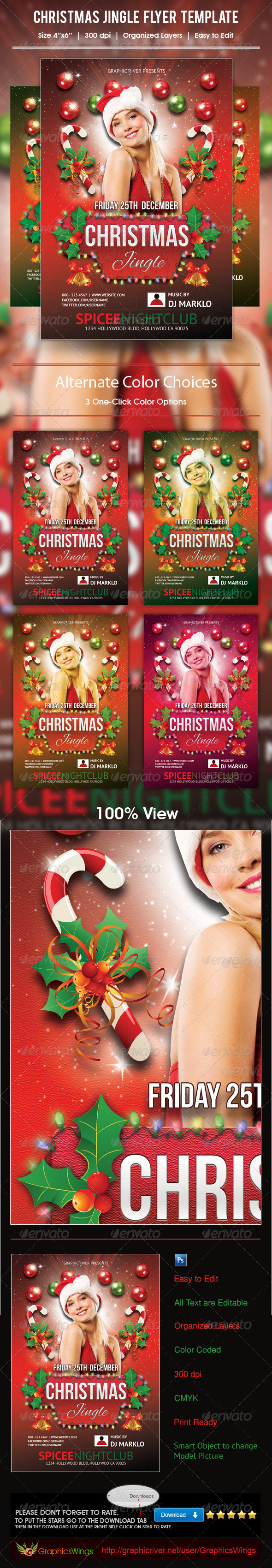 GraphicRiver Christmas Jingle Flyer Template 5993759