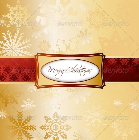 GraphicRiver Gold Christmas Background 5993928