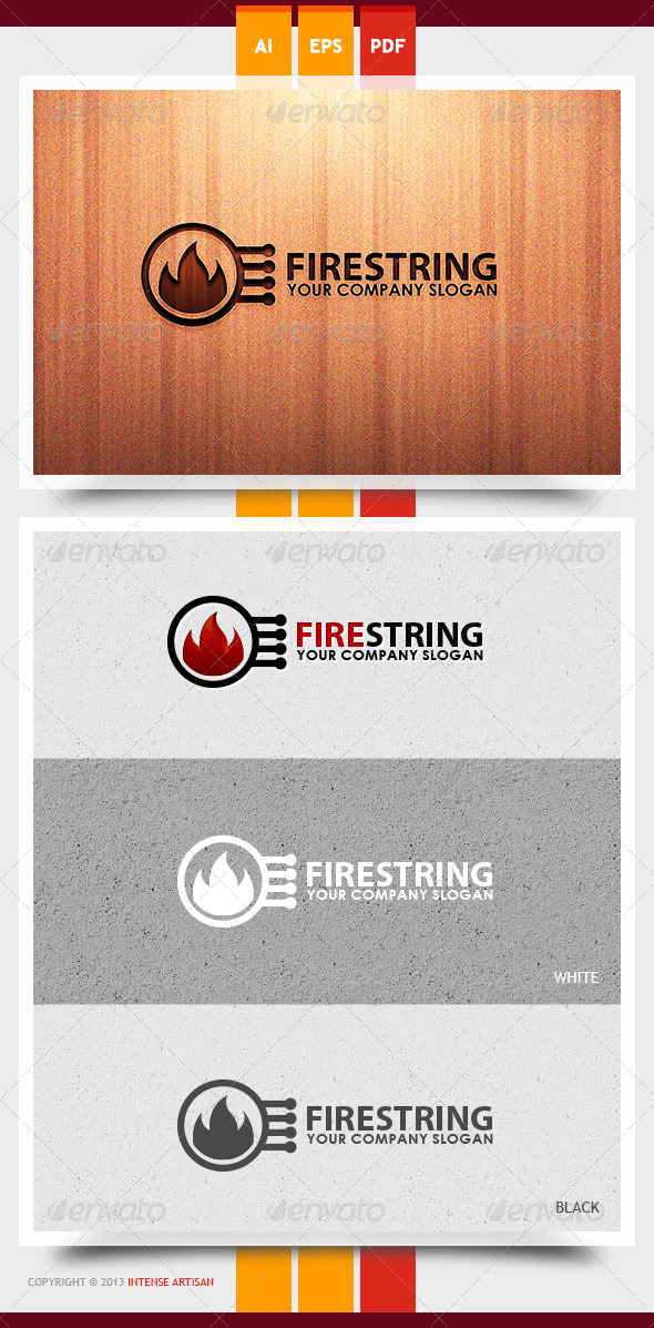 GraphicRiver Fire String Logo Template 5993988