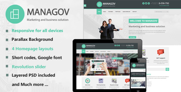 Managov Multi-Purpose HTML Template