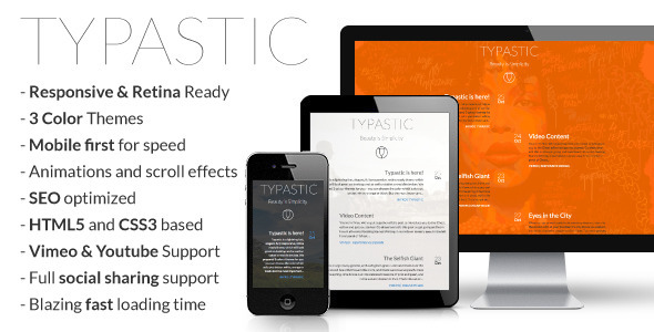 ThemeForest Typastic Responsive Multi-Purpose Ghost Theme 5966669