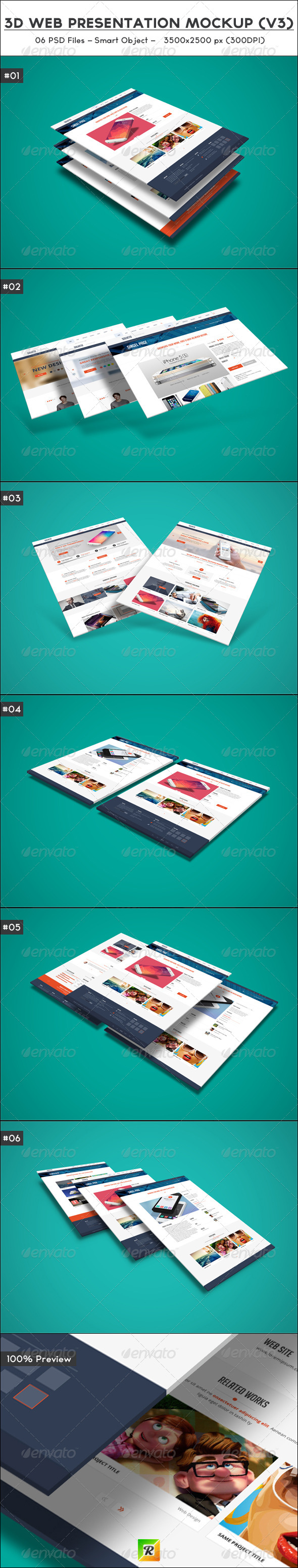GraphicRiver 3D Web Presentation Mockup V3 5994101