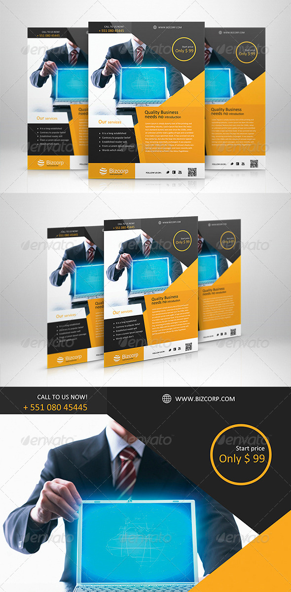 GraphicRiver Corporate Flyer Template 005 5994211