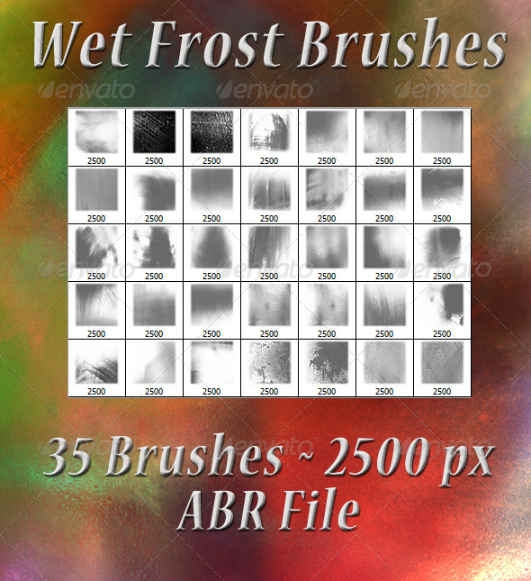 GraphicRiver Wet Frost Brushes 5994220