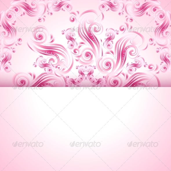 GraphicRiver Vintage Background with Swirl Ornaments 5994388