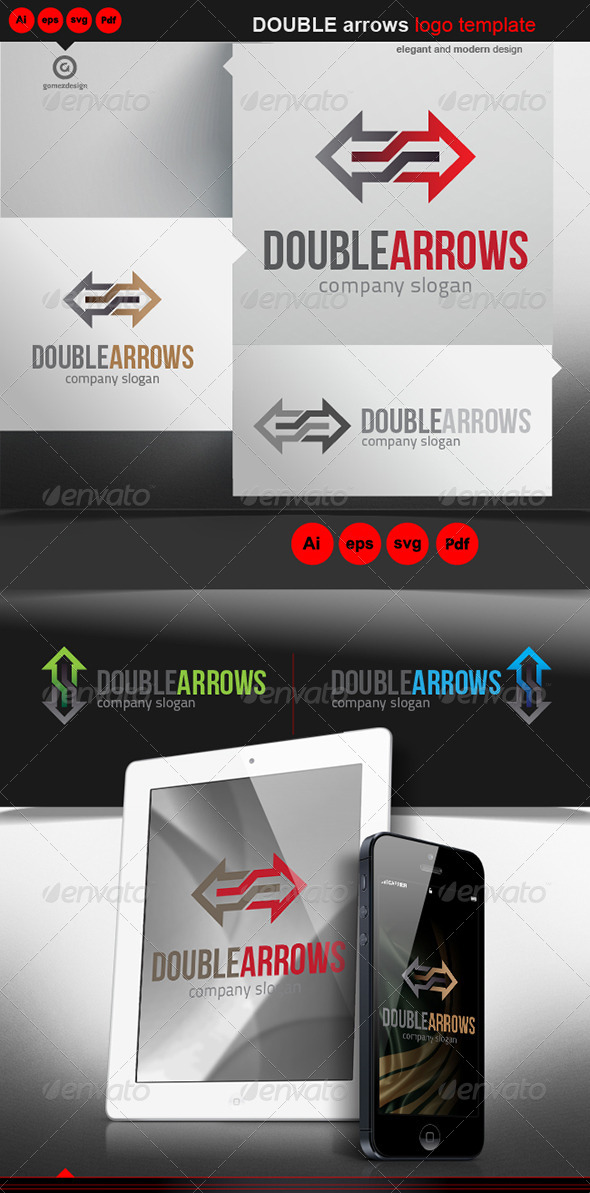 Double Arrows - Logo Templates