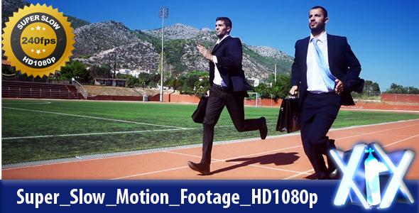 Businessmen Racing On Track