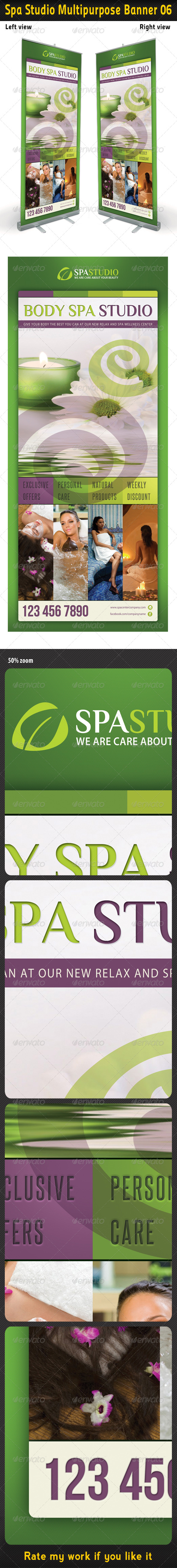Spa Studio Multipurpose Banner 06 - Signage Print Templates