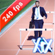 Executive Jumping Over Hurdle - VideoHive Item for Sale