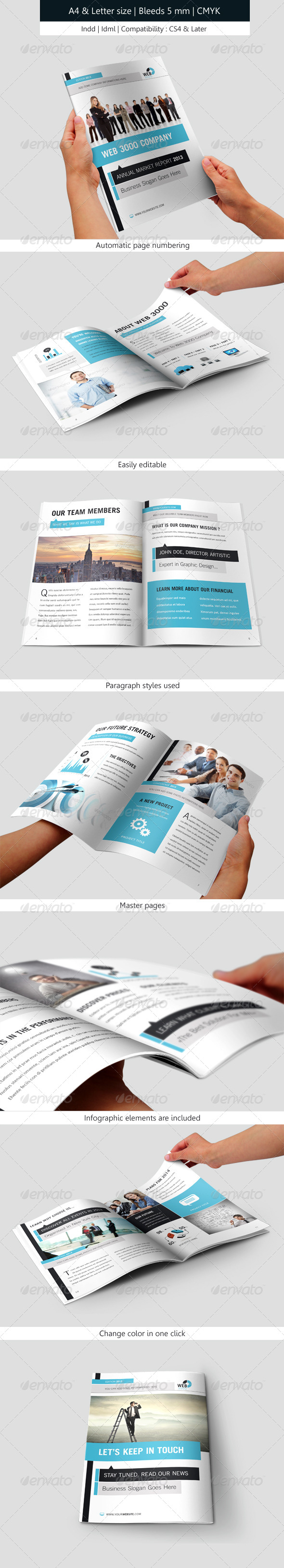 GraphicRiver Corporate Brochure Indesign Template Annual Report 5775941