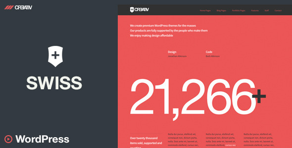 ThemeForest Swiss Premium WordPress Theme 5971393