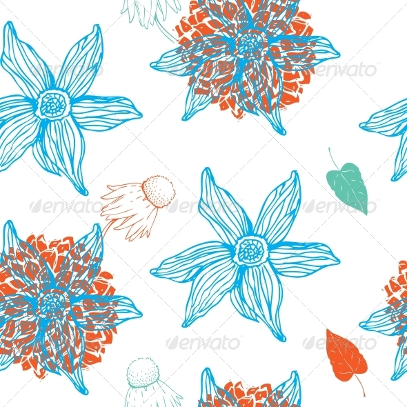 GraphicRiver Flower Seamless Pattern 5995341