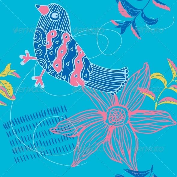 GraphicRiver Bird Seamless Background 5995359